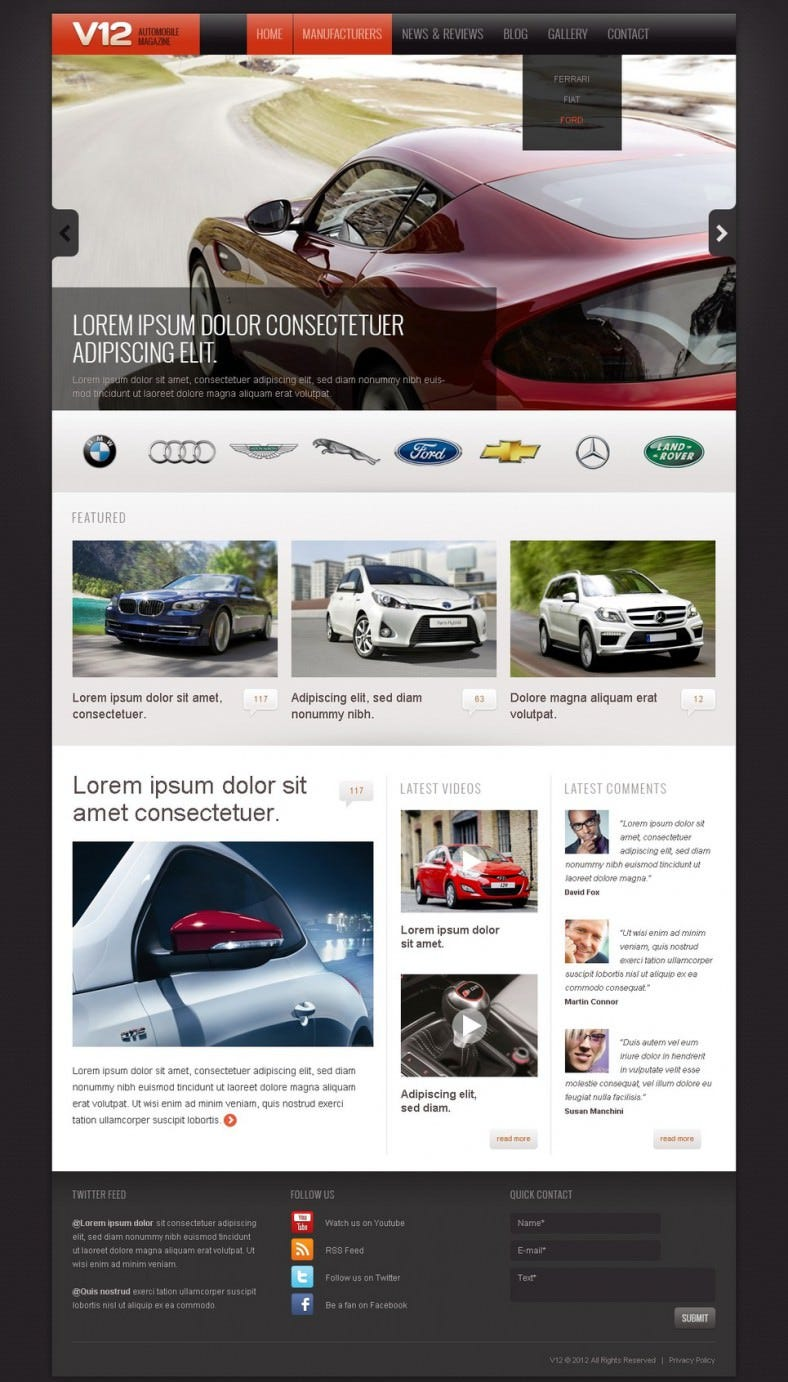 car club drupal template 788x1382