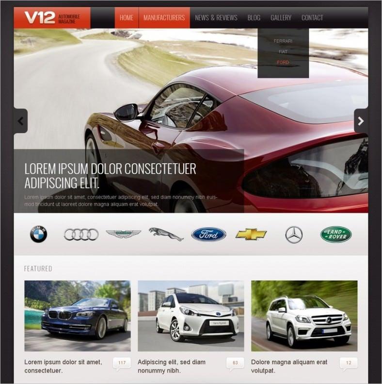 drupal themes automobile