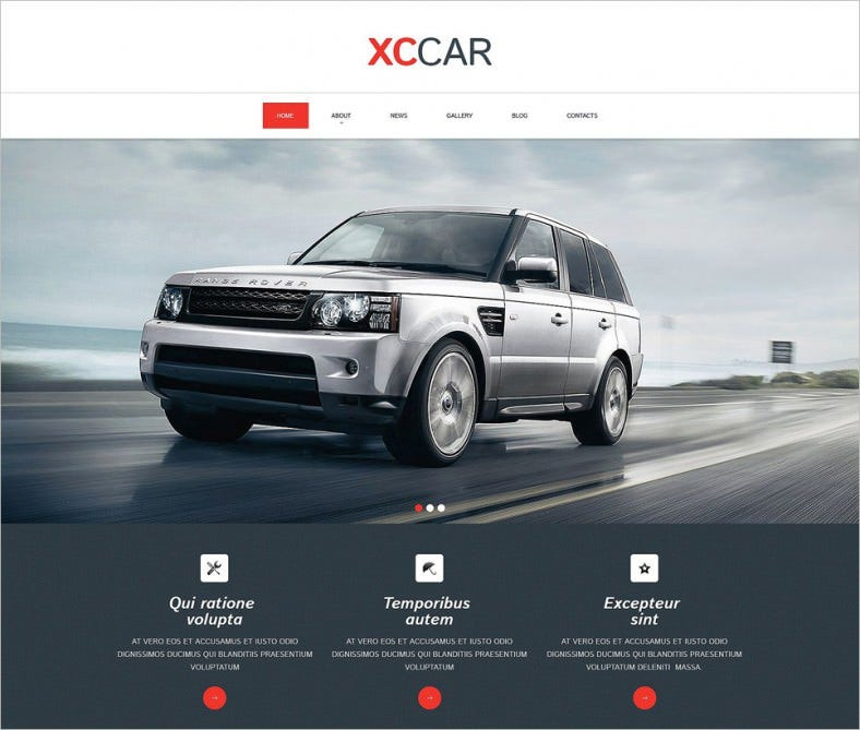 car club responsive drupal template 788x669