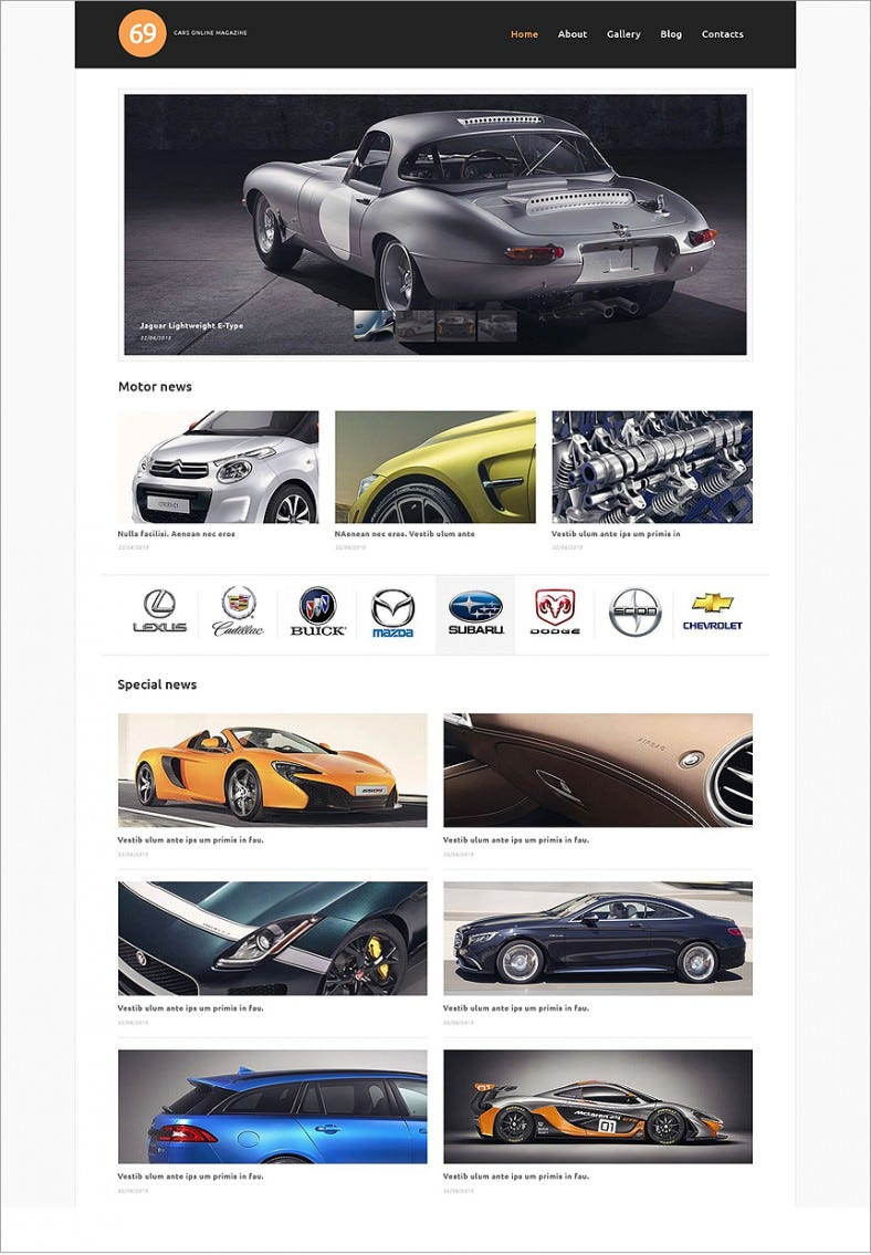 7 best car club wordpress templates  u0026themes