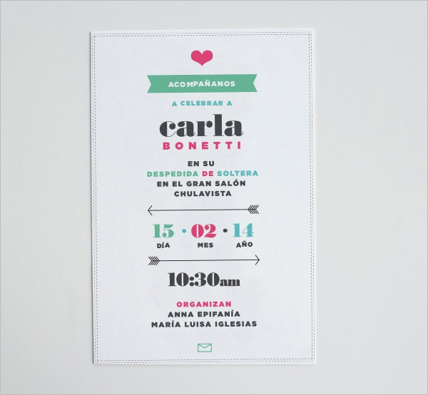 carla bonetti wedding shower invitation template