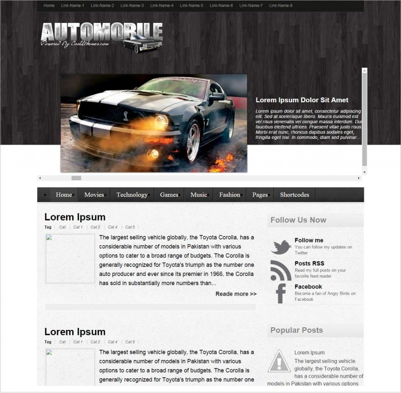 cars automobile responsive bloggertemplate 788x772