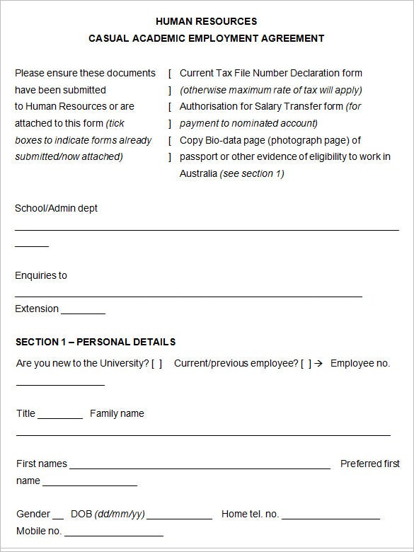 21 Hr Contract Templates Hr Templates Free Premium Templates