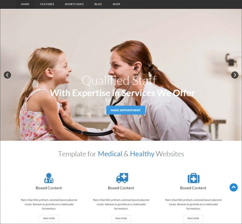 cena medical health joomla virtuemart template 788x729