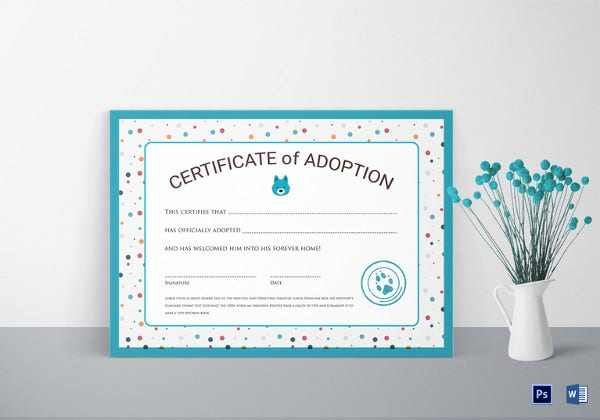 certificate-of-adoption-template