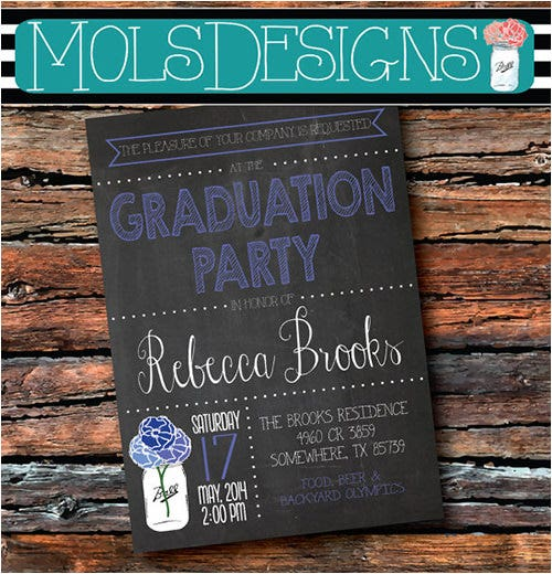 chalkboard family reunion invitation template
