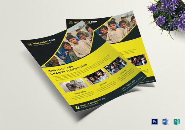 charity fundraiser church flyer template