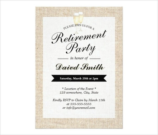 19  Retirement Party Invitation Templates PSD Invitations Free BbMddxN9