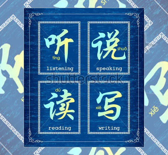 chinese alphabet letters for education