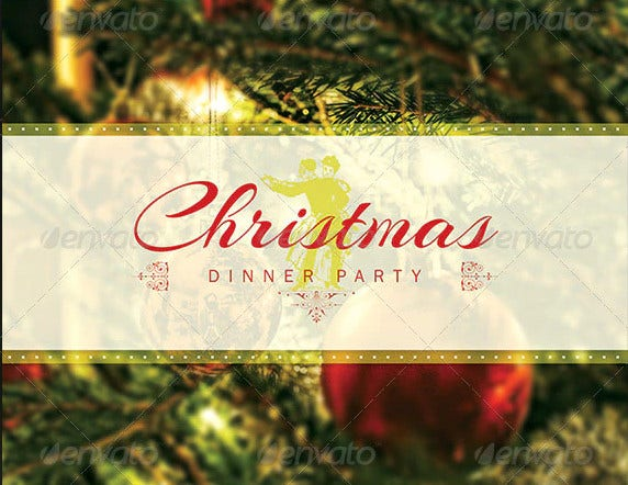 christmas dinner get together party invitation