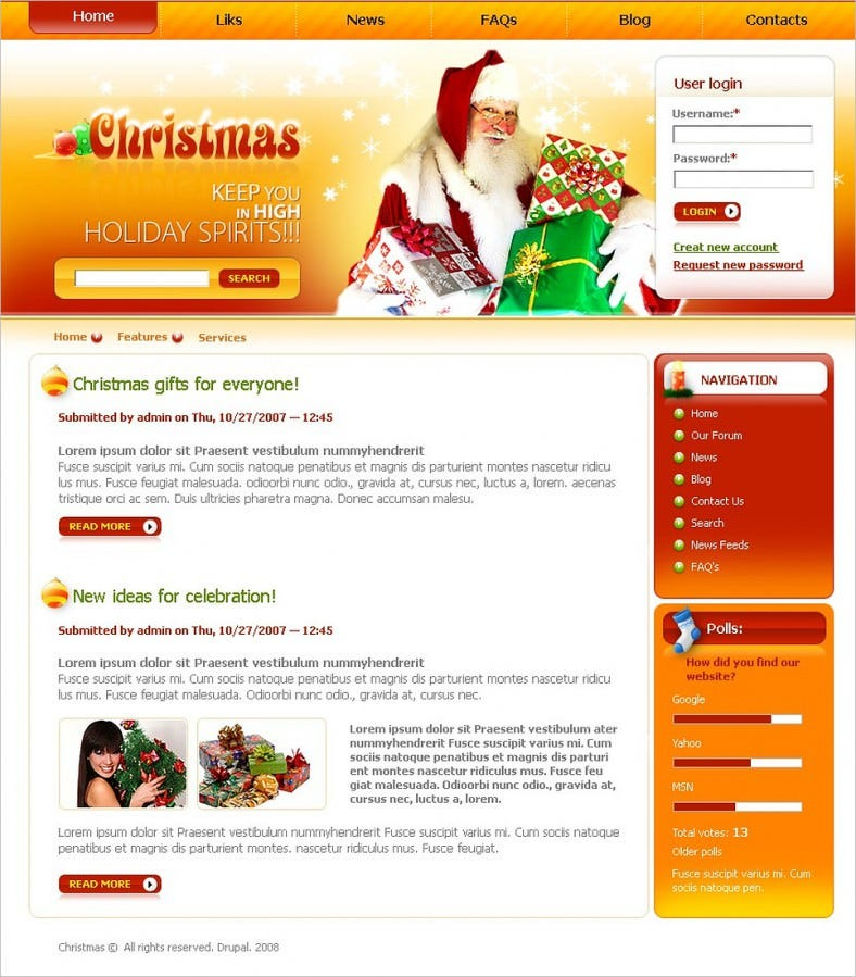 christmas drupal template new2 788x899
