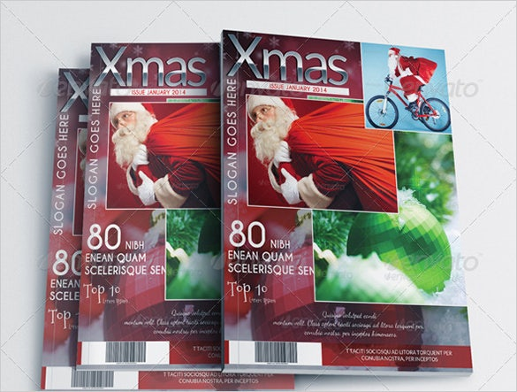 christmas edition news magazine psd template