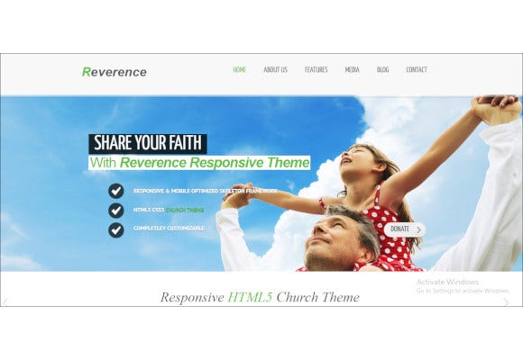 church responsive html 5 theme
