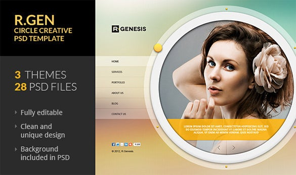 circle creative psd template