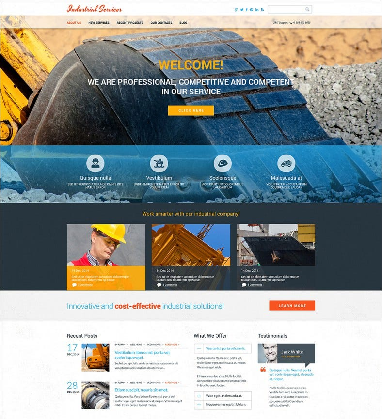 civil engineering drupal template 788x865