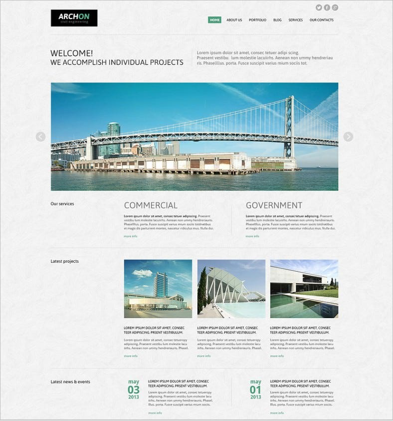 civil engineering to ease life joomla template 788x843