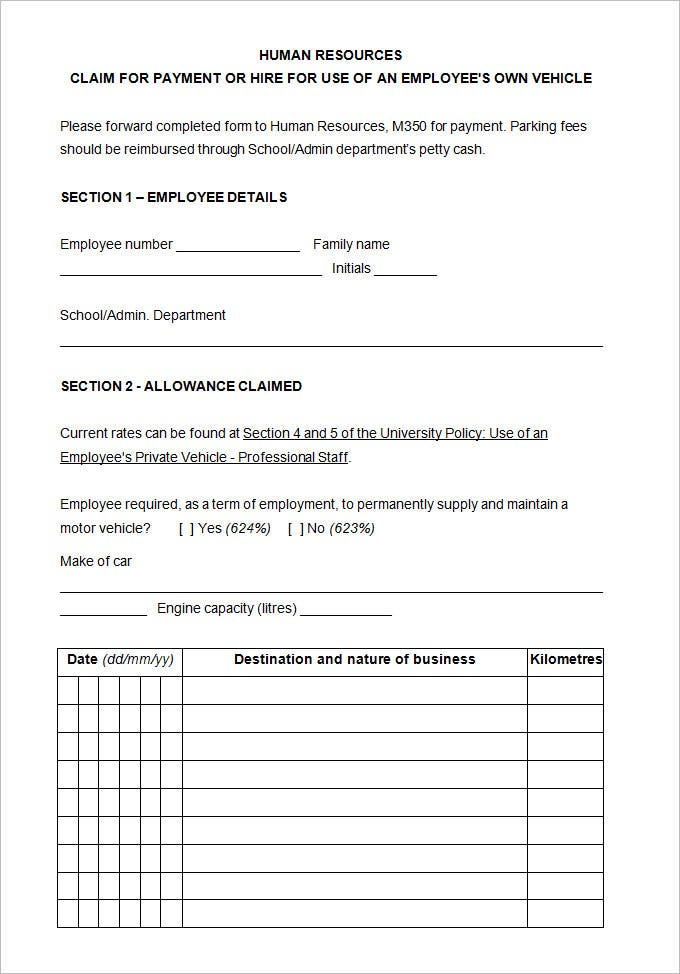 13 sample hr agreement templates free premium templates for Employee vehicle use agreement template
