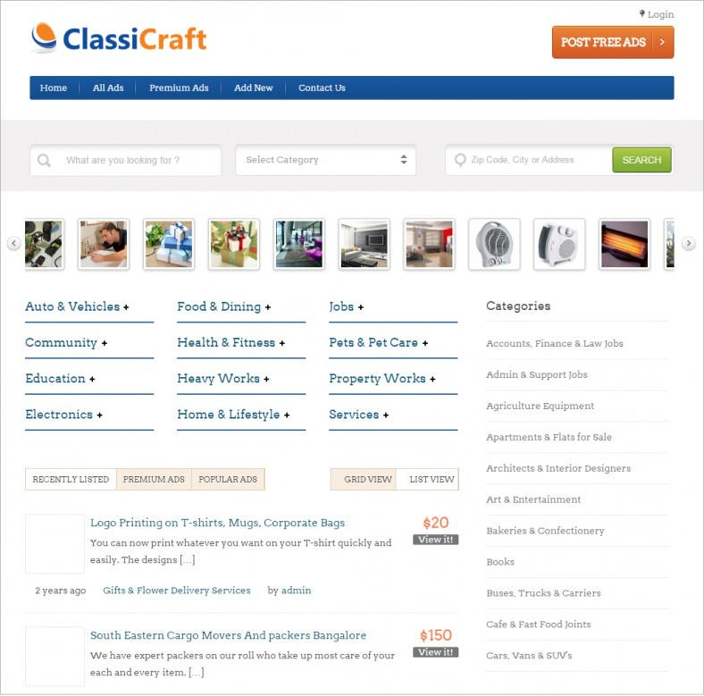 7 Best Classified Wordpress Templates & Themes | Free & Premium ...