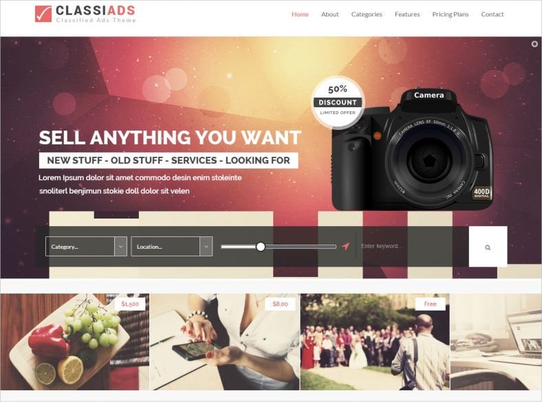 20+ Best Classified HTML5 Website Themes & Templates | Free