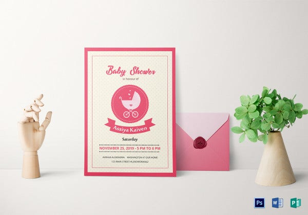 Classic Baby Shower Invitation Template  Baby Shower Invitations Free Downloadable Templates