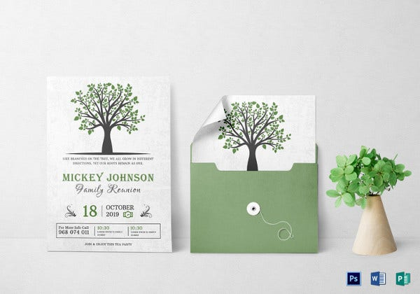 classic family reunion invitation template