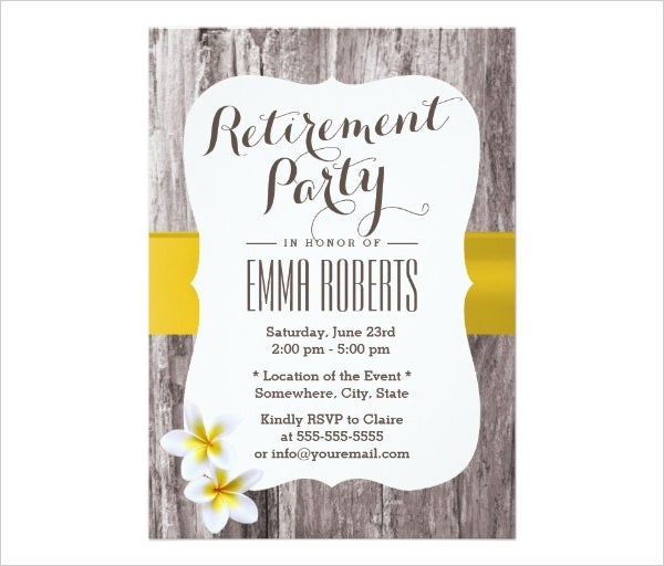 Retirement Party Invitation – Gangcraft.Net