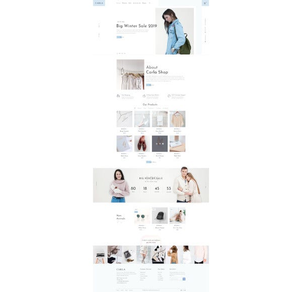 clothing fashion psd template