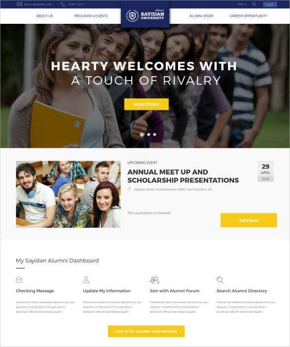 college-alumni-html5-website-template