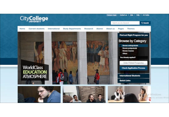 college responsive website template html with css2