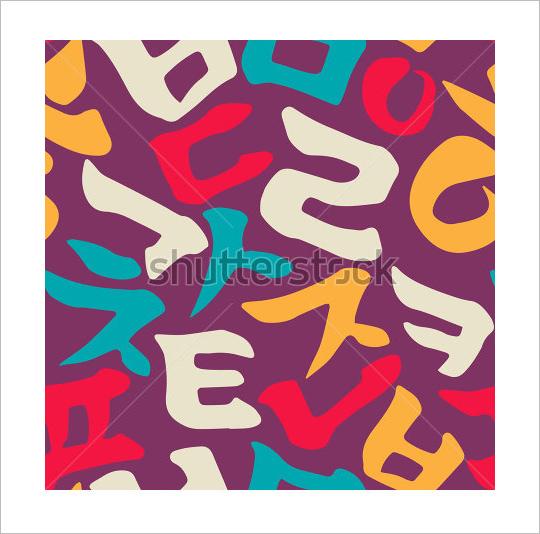 colorful drawn korean alphabet letters