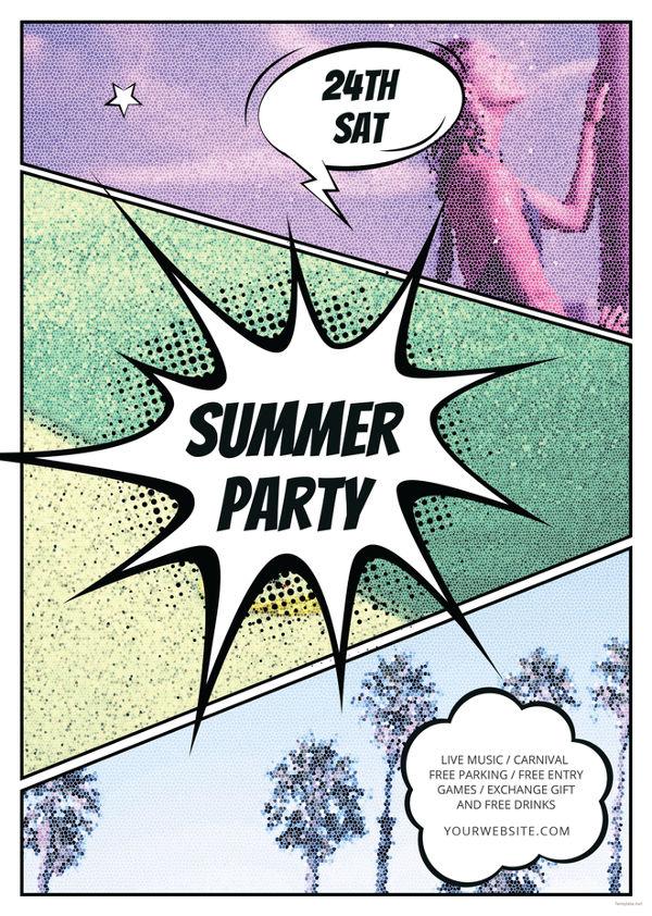 comic-summer-flyer-template