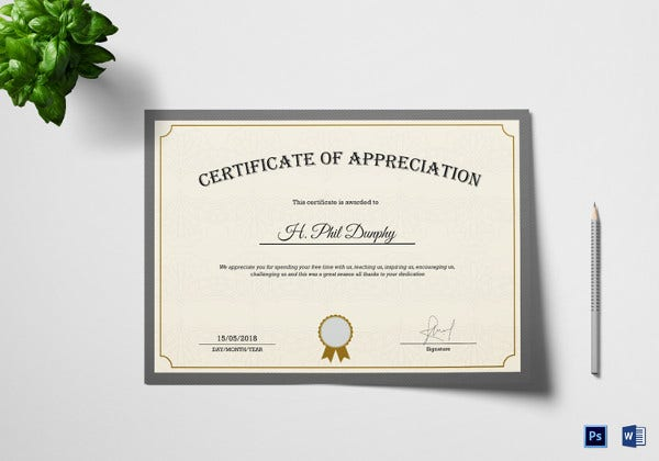 company manager appreciation certificate template1