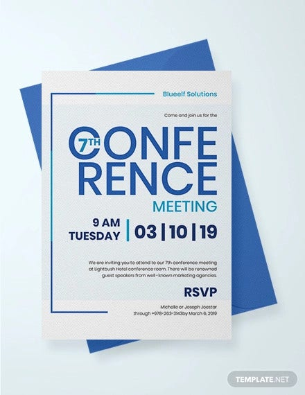 14 Conference Invitation Templates Psd Ai Doc Free