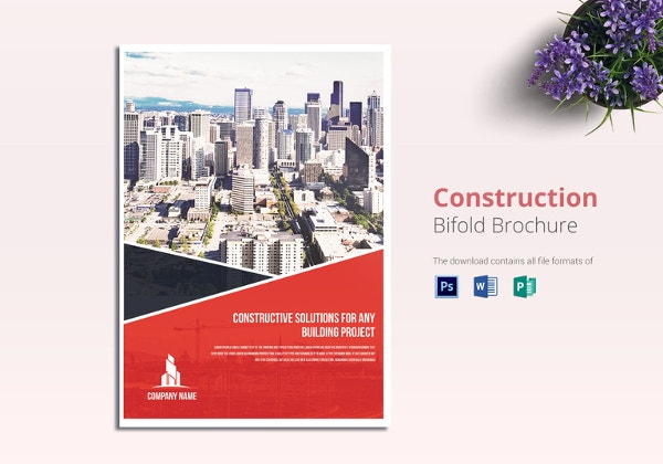 20 real estate brochures free psd eps word pdf for Construction brochure design pdf