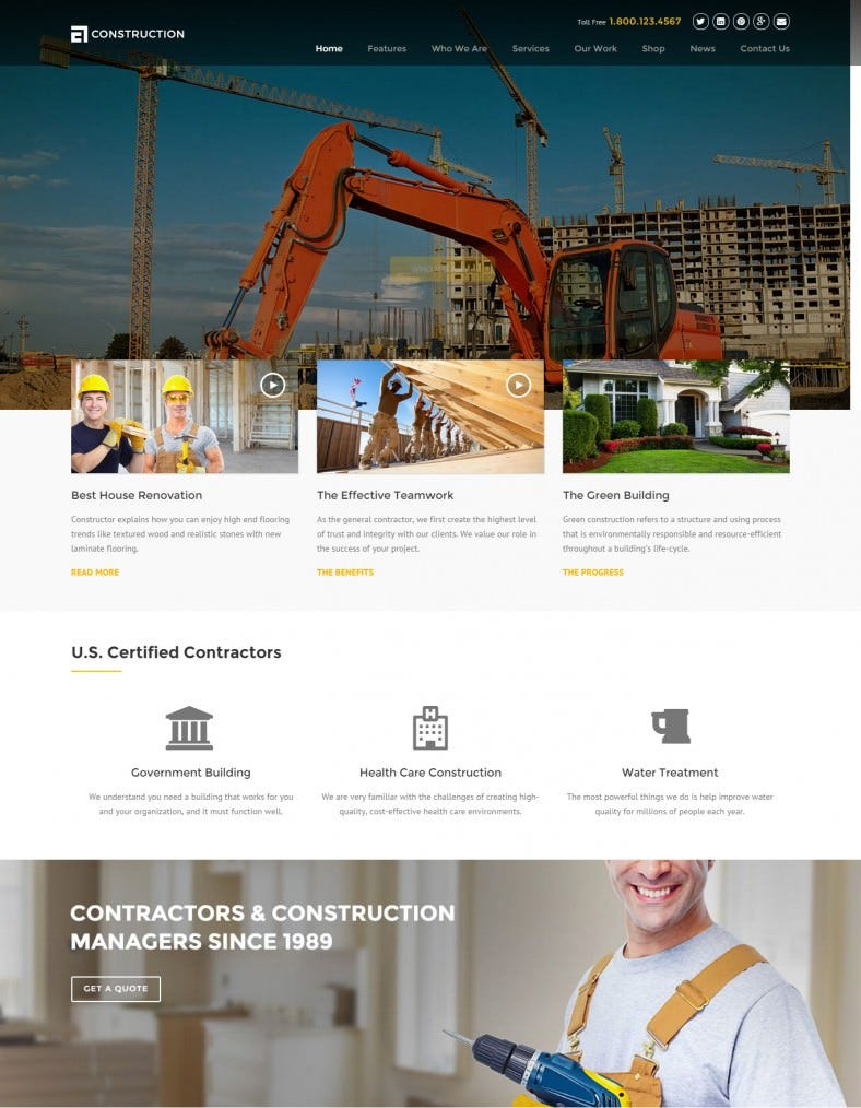 Construction & Building Business Drupal Template