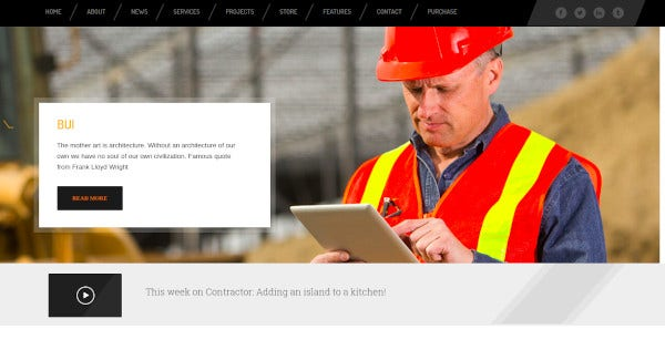 construction building html template