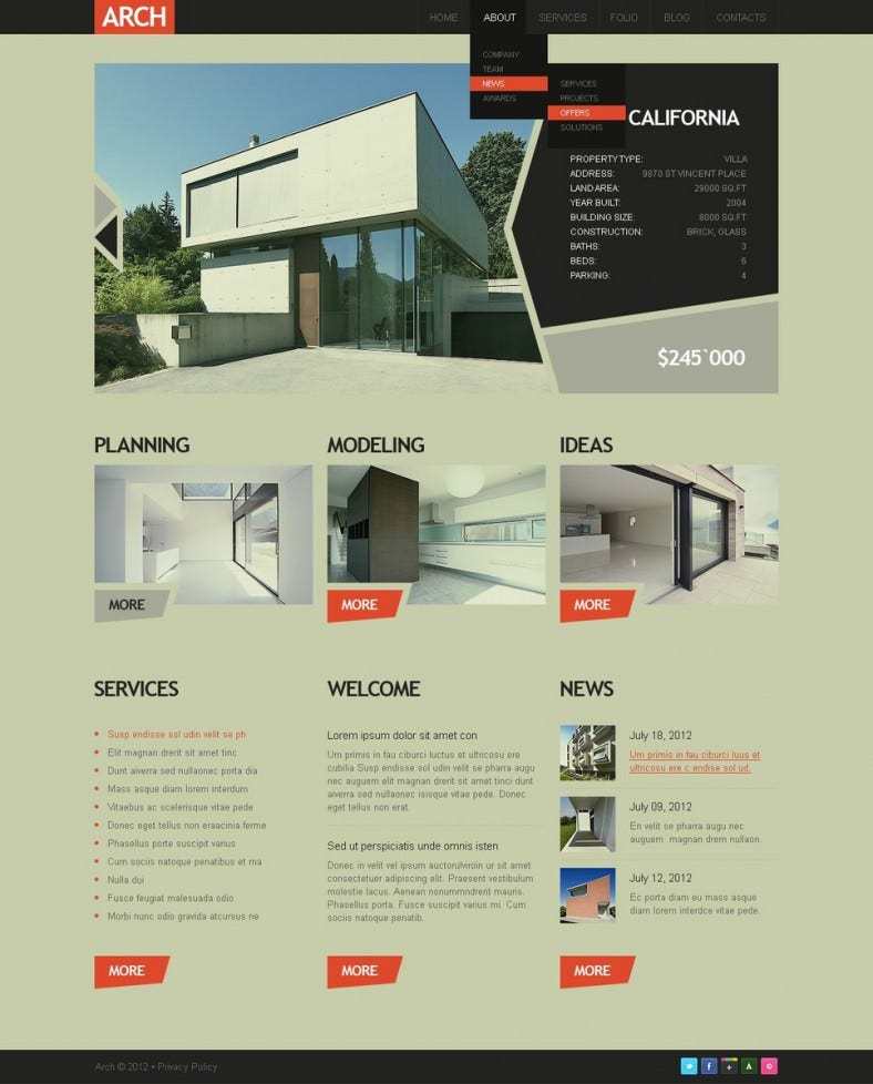 Construction Company Drupal Template 1