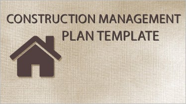 construction management plan template