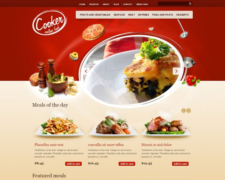 cooker html5 css3 drupal theme 788x630