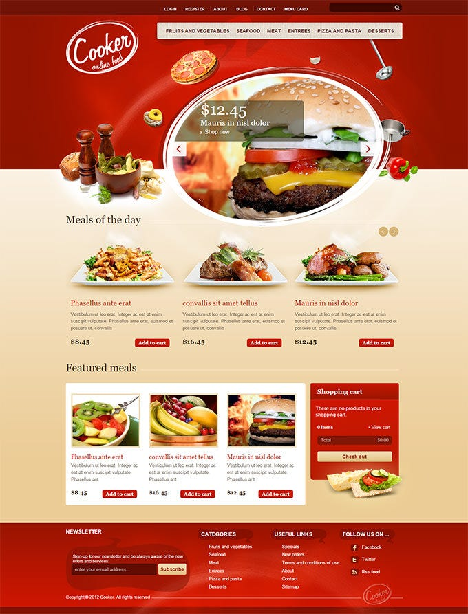 Best drupal cafe themes and templates free premium