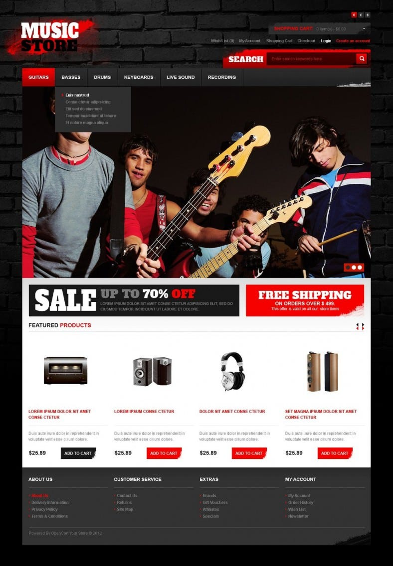 cool music opencart template 788x1136
