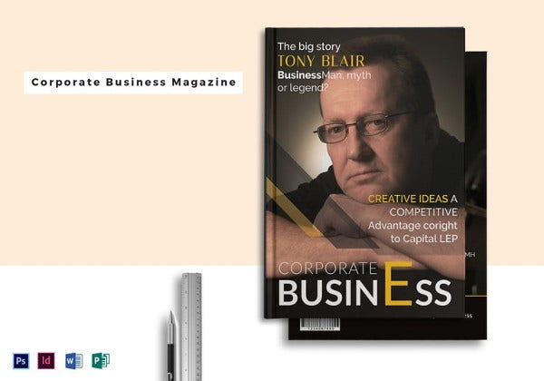 corporate business magazine template