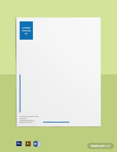 corporate cleaning service letterhead template