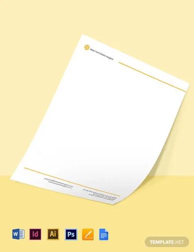 corporate real estate letterhead template