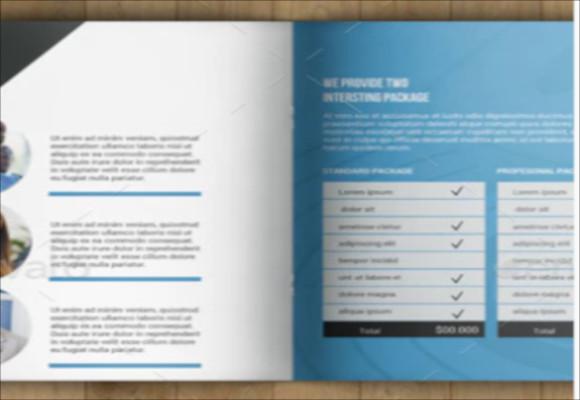 corporate square bifold brochure