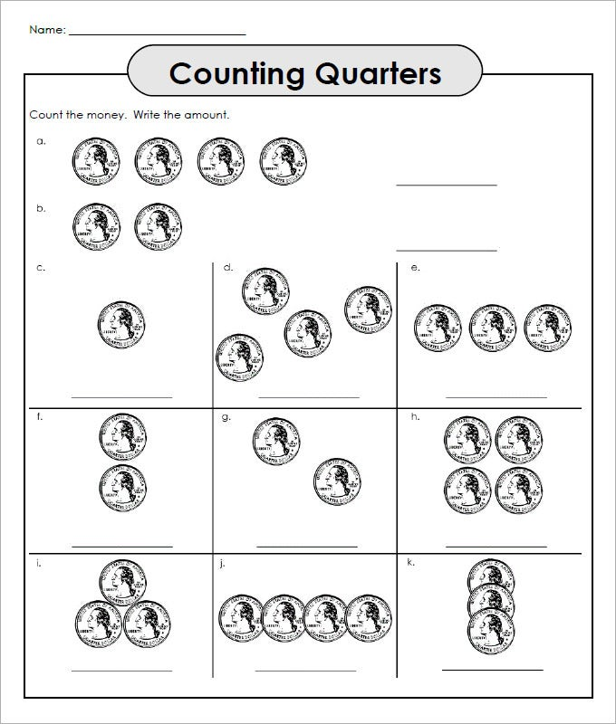 28 Sample Counting Money Worksheet Templates | Free PDF Documents ...