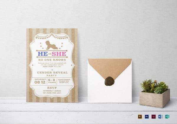 country-gender-reveal-invitation-template