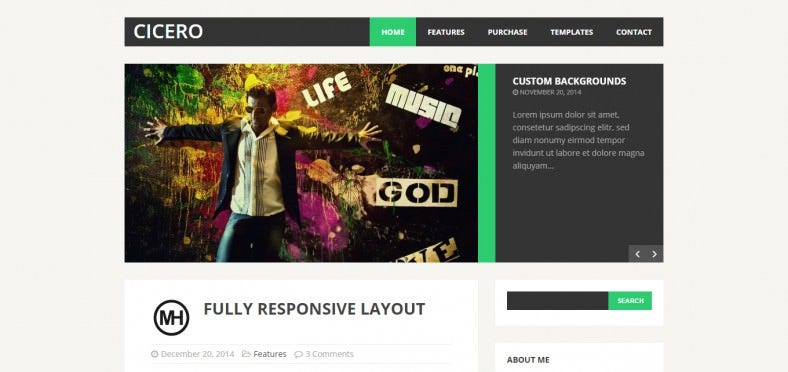 creative flat wordpress theme 788x372