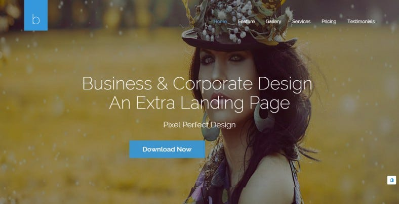 creative html5 landing page 788x404