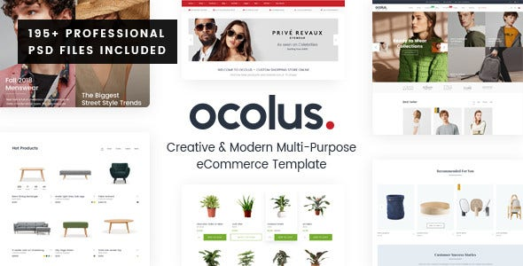 creative modern multi purpose ecommerce psd template